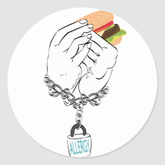 Big Tasty Burger and Hands2 Classic Round Sticker