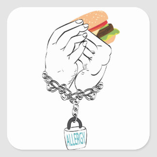 Big Tasty Burger and Hands2 Square Sticker