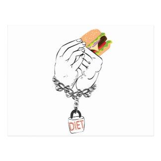 Big Tasty Burger and Hands Postcard