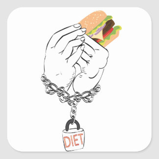 Big Tasty Burger and Hands Square Sticker