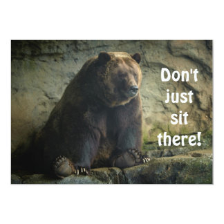 Big Teddy Bear Invitation