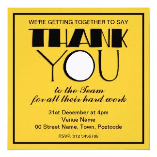Big Thank You black Thanks Team Invitation