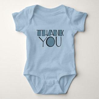 Big Thank You blue Infant Baby Bodysuit