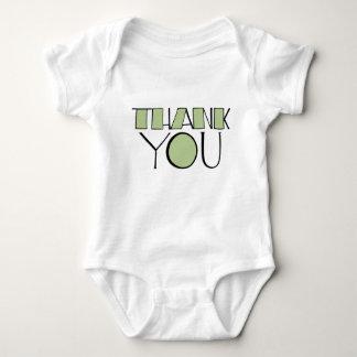 Big Thank You green Infant Baby Bodysuit