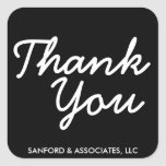 Big Thank You in cursive business etiquette Square Stickers