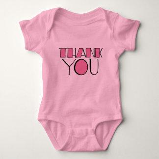 Big Thank You pink Infant Tshirt