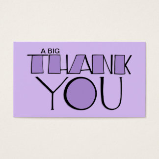 Big Thank You purple Business Card