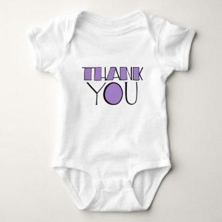 Big Thank You purple Infant Baby Bodysuit
