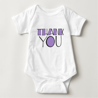 Big Thank You purple Infant Tees