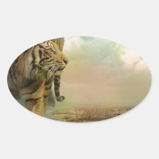 Big Tiger Oval Sticker