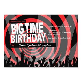Big Time Birthday Lights Invitation