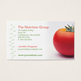 Big Tomato Nutritionist Business Card