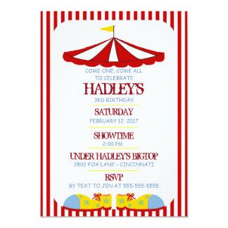 Big Top Circus Birthday Party Invitation