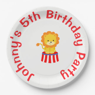 Big Top Circus Carnival Birthday in Red Paper Plate
