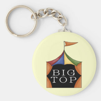 Big Top Circus Tent Basic Round Button Keychain