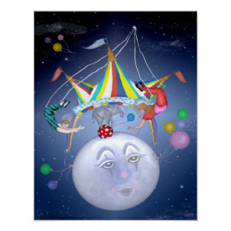 Big Top on a Little Blue Moon Poster