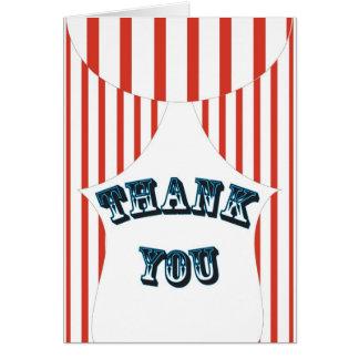 Big Top thank you Card