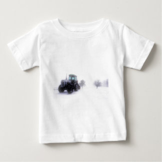 Big Tractor in Snow Baby T-Shirt