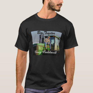 Big Tractor Men's black t-shirt