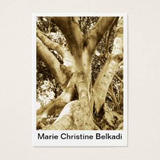 Big tree trunk sepia photography for nature business card