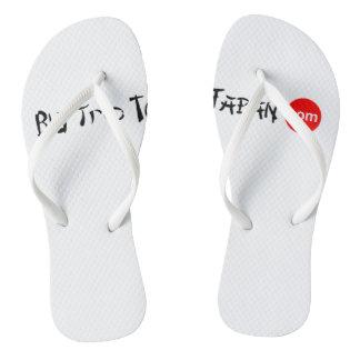 Big Trip To Japan Flip Flops Adult, Slim Straps