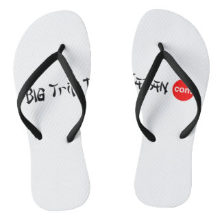 Big Trip To Japan Flip Flops Adult, Slim Straps