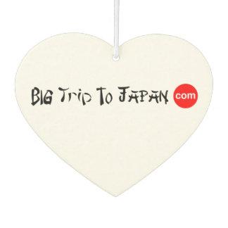 Big Trip To Japan Heart Air Freshener