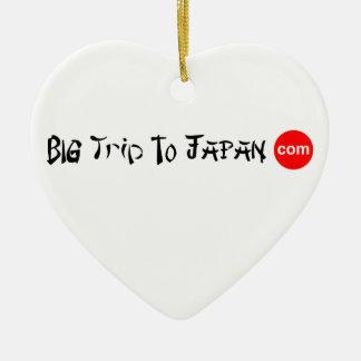 Big Trip To Japan Heart Ornament