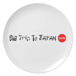 Big Trip To Japan Melamine Plate