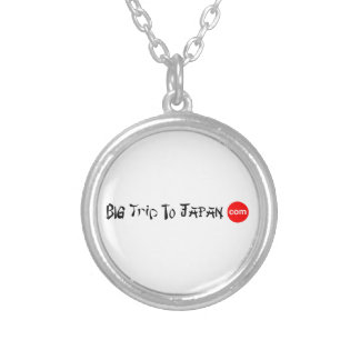Big Trip To Japan Necklace Silver Plated Round