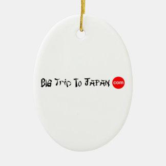 Big Trip To Japan Oval Ornament