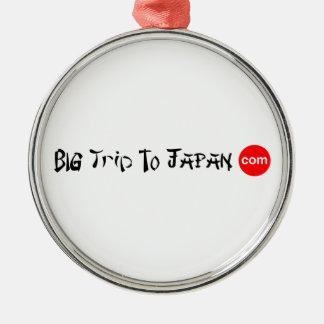 Big Trip To Japan Premium Round Ornament