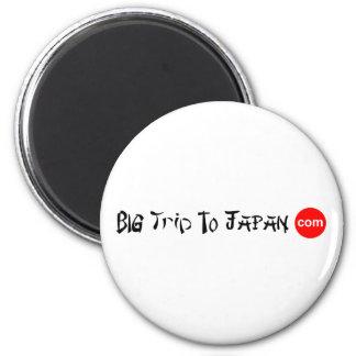 Big Trip To Japan Round Magnet