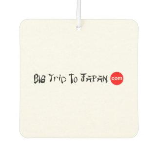 Big Trip To Japan Square Air Freshener