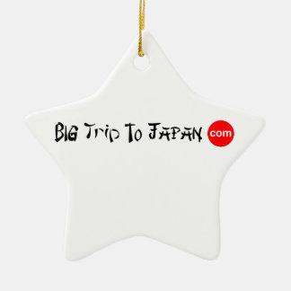 Big Trip To Japan Star Ornament