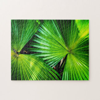 Big Tropical Leaves Jigsaw Puzzle