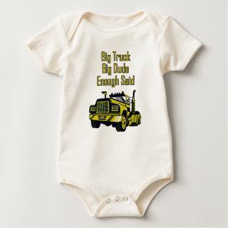 Big Truck Big Dude Enough Said Baby Bodysuit
