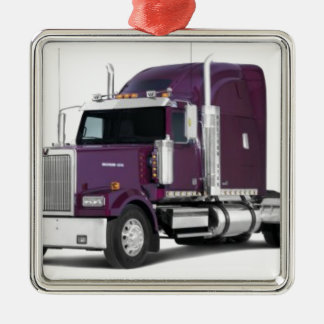 big truck metal ornament