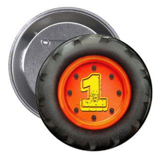 Big Truck Wheel 1st Birthday Party 3 Inch Round Button