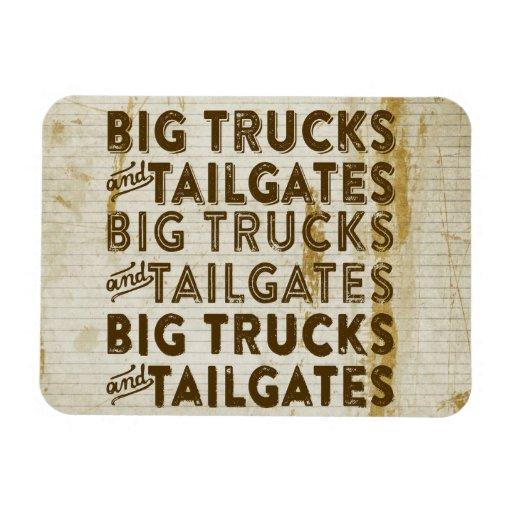 Big Trucks and Tailgates Flexible Magnet