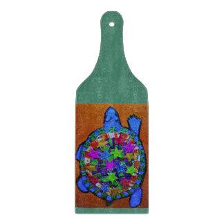 Big Turtle Decorative Glass Cutting Board Paddle