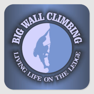 Big Wall Climbing Square Sticker