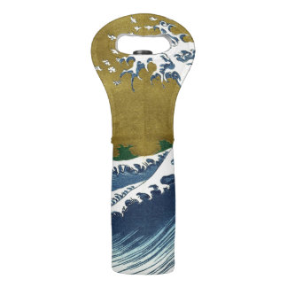 Big Wave Art Wine Tote