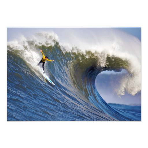Big Wave at the Mavericks Surfing Competition Custom Invites