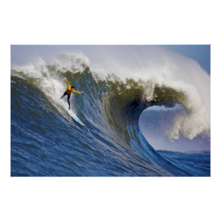 Big Wave at the Mavericks Surfing Competition Print