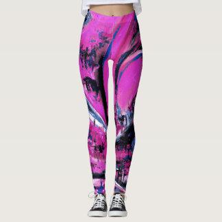 Big Wave Pink Leggings