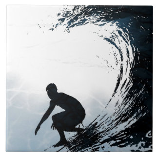 Big Wave Surfer Tile