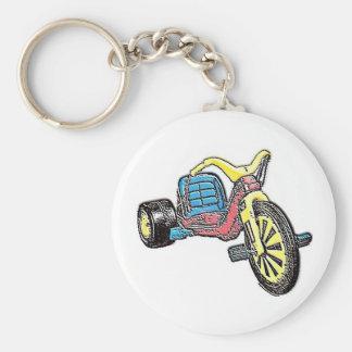 Big Wheel Basic Round Button Keychain