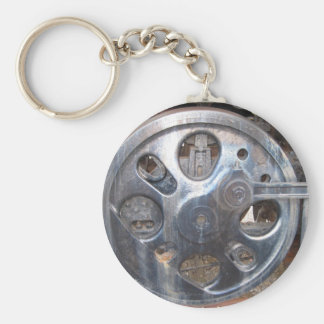Big Wheels Keep on Turnin' Railroad Engine Keychain
