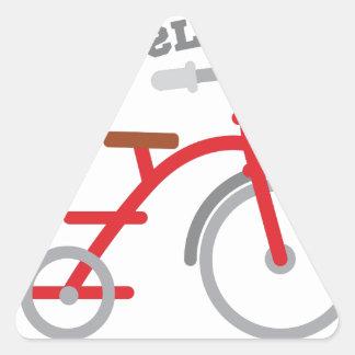 Big Wheels! Triangle Sticker
